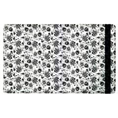 Roses pattern Apple iPad 3/4 Flip Case