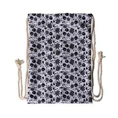Roses pattern Drawstring Bag (Small)