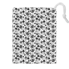Roses pattern Drawstring Pouches (XXL)
