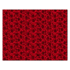 Roses pattern Rectangular Jigsaw Puzzl