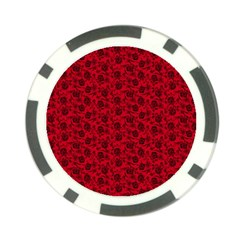 Roses pattern Poker Chip Card Guard (10 pack)