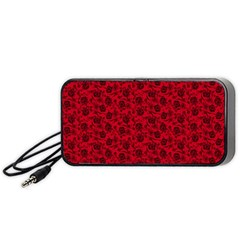 Roses pattern Portable Speaker (Black)
