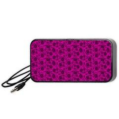 Roses pattern Portable Speaker (Black)
