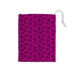 Roses pattern Drawstring Pouches (Medium)