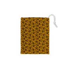 Roses pattern Drawstring Pouches (XS)