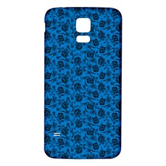 Roses pattern Samsung Galaxy S5 Back Case (White)