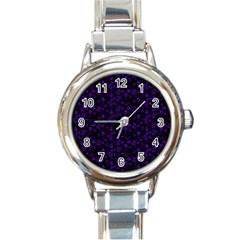Roses pattern Round Italian Charm Watch