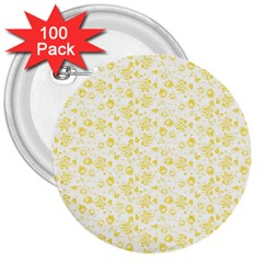 Roses pattern 3  Buttons (100 pack)
