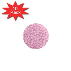 Roses pattern 1  Mini Magnet (10 pack)