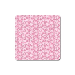 Roses pattern Square Magnet