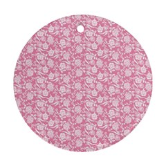 Roses pattern Round Ornament (Two Sides)