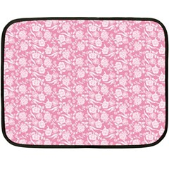 Roses pattern Fleece Blanket (Mini)