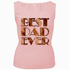 Best Dad Ever Gold Look Elegant Typography Women s Pink Tank Top