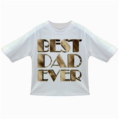 Best Dad Ever Gold Look Elegant Typography Infant/Toddler T-Shirts