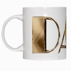 Best Dad Ever Gold Look Elegant Typography White Mugs