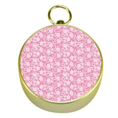 Roses pattern Gold Compasses