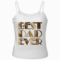 Best Dad Ever Gold Look Elegant Typography Ladies Camisoles