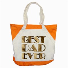 Best Dad Ever Gold Look Elegant Typography Accent Tote Bag
