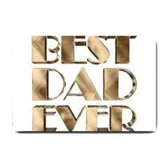 Best Dad Ever Gold Look Elegant Typography Small Doormat