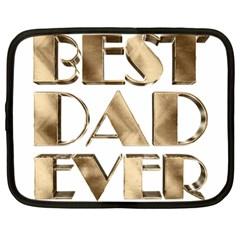 Best Dad Ever Gold Look Elegant Typography Netbook Case (Large)