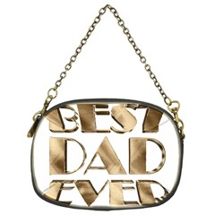 Best Dad Ever Gold Look Elegant Typography Chain Purses (One Side)