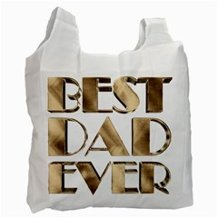 Best Dad Ever Gold Look Elegant Typography Recycle Bag (one Side)