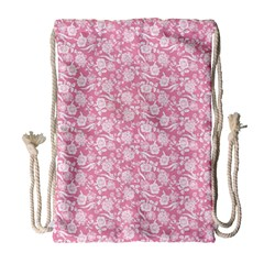 Roses pattern Drawstring Bag (Large)