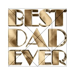 Best Dad Ever Gold Look Elegant Typography Acrylic Tangram Puzzle (6  x 6 )