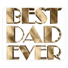 Best Dad Ever Gold Look Elegant Typography Double Sided Flano Blanket (Small)