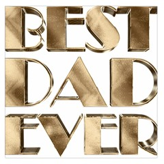 Best Dad Ever Gold Look Elegant Typography Large Satin Scarf (Square)