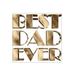 Best Dad Ever Gold Look Elegant Typography Satin Bandana Scarf