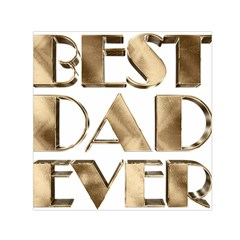Best Dad Ever Gold Look Elegant Typography Small Satin Scarf (Square)