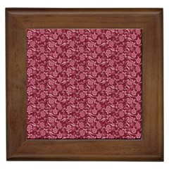 Roses pattern Framed Tiles