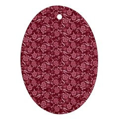 Roses pattern Ornament (Oval)
