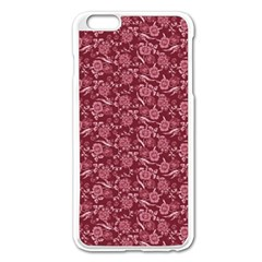 Roses pattern Apple iPhone 6 Plus/6S Plus Enamel White Case