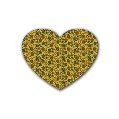 Roses pattern Heart Coaster (4 pack)
