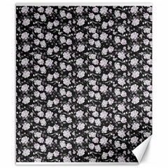 Roses pattern Canvas 8  x 10