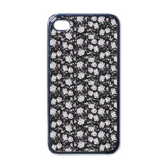 Roses pattern Apple iPhone 4 Case (Black)