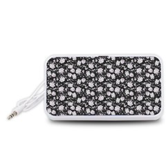 Roses pattern Portable Speaker (White)