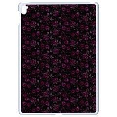 Roses Pattern Apple Ipad Pro 9 7   White Seamless Case