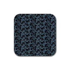 Roses pattern Rubber Coaster (Square)