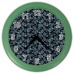 Roses pattern Color Wall Clocks