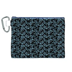 Roses pattern Canvas Cosmetic Bag (XL)