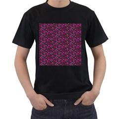 Roses pattern Men s T-Shirt (Black)