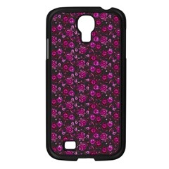 Roses pattern Samsung Galaxy S4 I9500/ I9505 Case (Black)