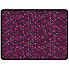 Roses pattern Double Sided Fleece Blanket (Large)