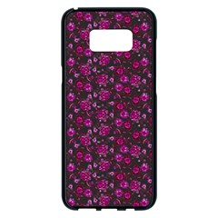 Roses pattern Samsung Galaxy S8 Plus Black Seamless Case