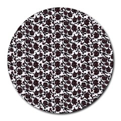 Roses pattern Round Mousepads