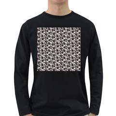Roses pattern Long Sleeve Dark T-Shirts