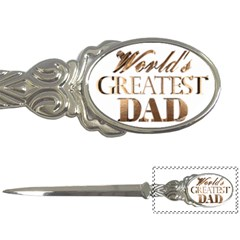 World s Greatest Dad Gold Look Text Elegant Typography Letter Openers